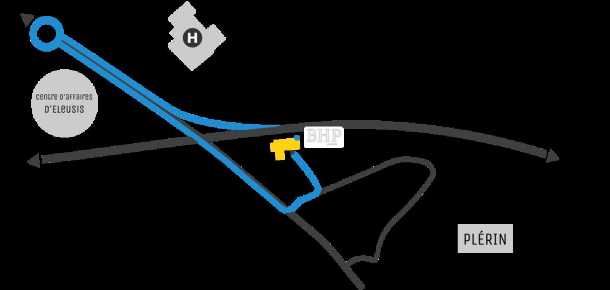Plan d'accès BHP - Plérin